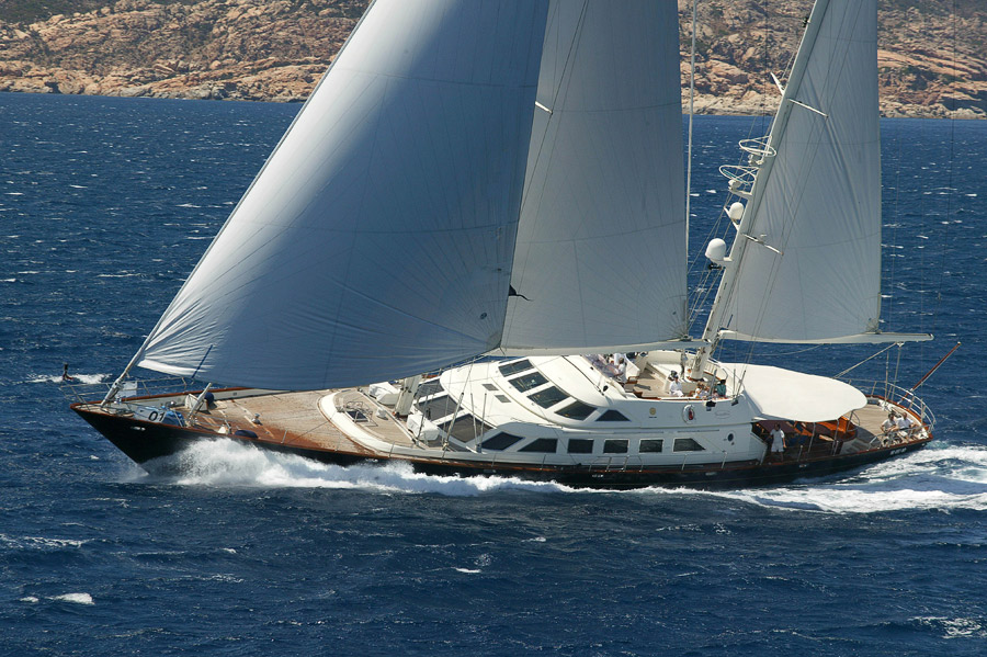 The beautiful 46 meter sailing yacht ANTARA (ex. Tamsen) is newly available ...