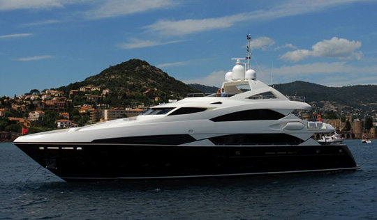 ... including the magnificent Sunseeker 37m Trideck Yacht, The Snapper.